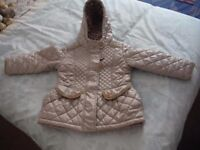 For Sale - Girls NEXT stone coloured quilted jacket