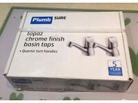 Plumbsure Topaz Chrome Finish Basin Taps