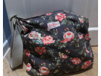 Cath Kidston Grey Canvas Floral Messenger Bag - NEW