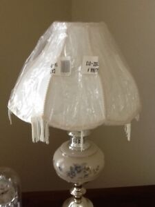 VICTORIAN LAMP SHADE with fringe