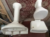 Heritage wash hand basin with taps and matching toilet