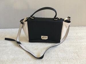 Kate Spade Medium Black/White Trapeze Leather Satchel (Lightly U