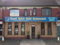 BENGALI INDIAN 52 SEATS RESTAURANT TAKE AWAY SHOP BUSINESS LEASE IN NORTHFIELD BIRMINGHAM, FOR SALE!