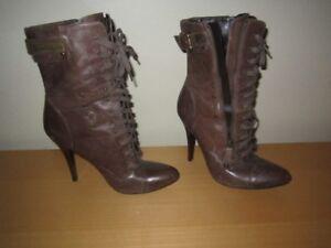 Guess Women Boot Brown Colour High Heel, Size = 38