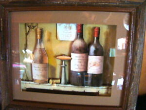 Wine Motif Shadow Box
