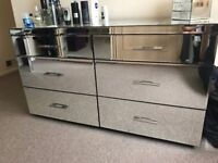 Next mirrored chest of drawers