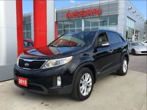 2015 Kia Sorento EX V6 AWD, leather, panoramic roof, heated seat