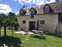 Rustic Gites (Cottages) in the Loire countryside, France, heated covered pool