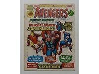 Avengers comic 1st edition 1973 September