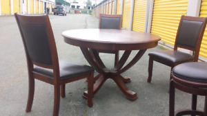 Solid Wood Dining Table Set **Delivery Included**