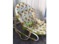 Baby rocking and carry chair