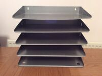 Industrial vintage strong metal filing tray