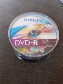 Dvd-r 25 pack brand new