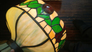 Antique Stained Glass Tiffany Lamp