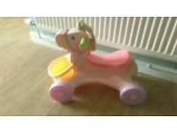 Fisher-price ride on musical pony