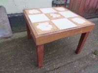 Tiled Top Side Table Delivery Available £5