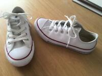 Converse all star white leather trainers
