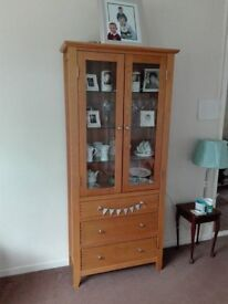 Tall solid wood unit