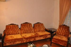 ensemble sofa et chaise vintage