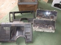 FORD SIERRA. 2 INSTRUMENT CLUSTERS WITH REV COUNTERS. DASH TRIM ITEMS