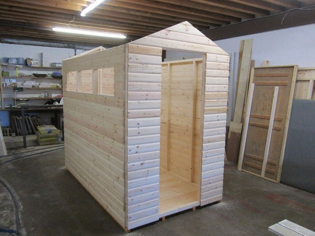 Garden Sheds Hull 8ft x4ft 6in apex 19mm loglap garden shed | in hull, east