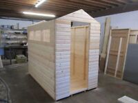8ft x4ft 6in apex 19mm loglap garden shed
