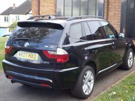 BMW X3 2.0d Msport Turbo Diesel 2007. Spares or Repairs (Starts & Drives)