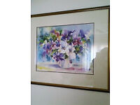 Beautifull Gold Framed Fully Glazed Watercolour Picture.