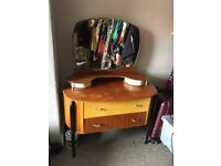 Mid century vintage 1950s dressing table