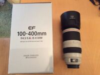 Canon 100-400 f4.5-5.6L IS MK ii, Like new Condition + Original Box