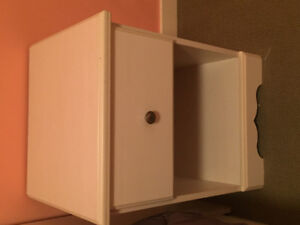 Small white bedside table for sale