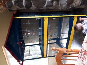 Très grande cage à oiseaux