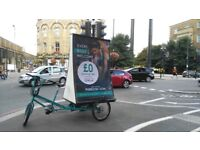 Cyclists wanted £10 per hour