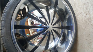 """26"""" Starr rims and low pro tires"""