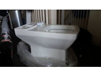 REDUCED!!! Brand New Closed Coupled Square Toilet Pan, boxed