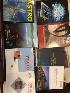 Assorted Laurier First year textbooks