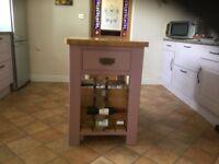 Kitchen island heavy pine two drawers