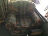 FREE! Comfortable 3 Piece Suite (Sofa and Two Arm Chairs)