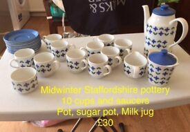 Various vintage tea sets