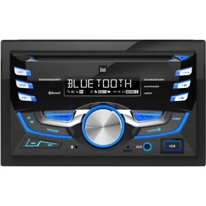 Dual DXDM280BT - Double-DIN AM/FM Tuner with CD & Bluetooth $150