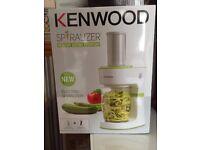 Kenwood Electric Spiralizer - White NEW