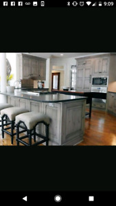 In search of someone who can sand and refinish oak cabinets