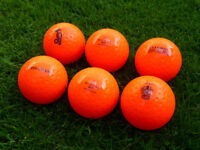 Orange Hockey Dimple Training Balls (mixed brands) x 34