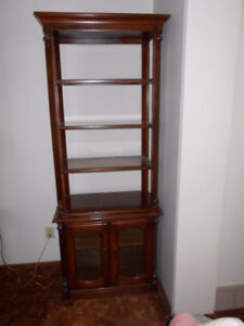 Beautiful solid wood curio/bookcase