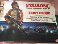 First Blood UK Quad Poster