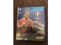 PS4 game pro evolution soccer 2016 Euro 2016