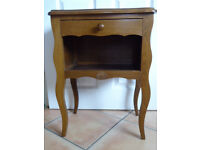 Vintage French bedside hall lamp table