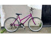 Ladies Pink Vouge mountain ridge bike