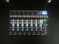 Citronic CM8-LIVE 8 Channel Compact Mixer with Delay and USB/SD Player