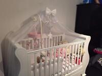 Tutti Bambini Sleigh Cot Bed with drawer